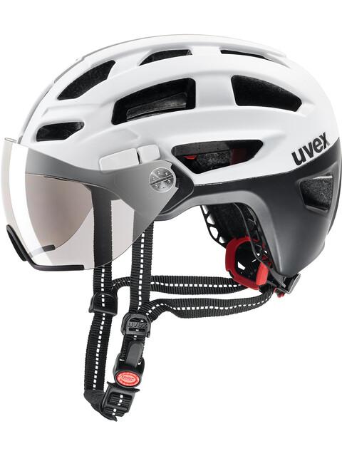UVEX Finale Visor Helmet black-white matt